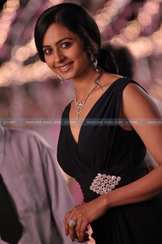 Rakul Preet Singh Black Dress  Stills