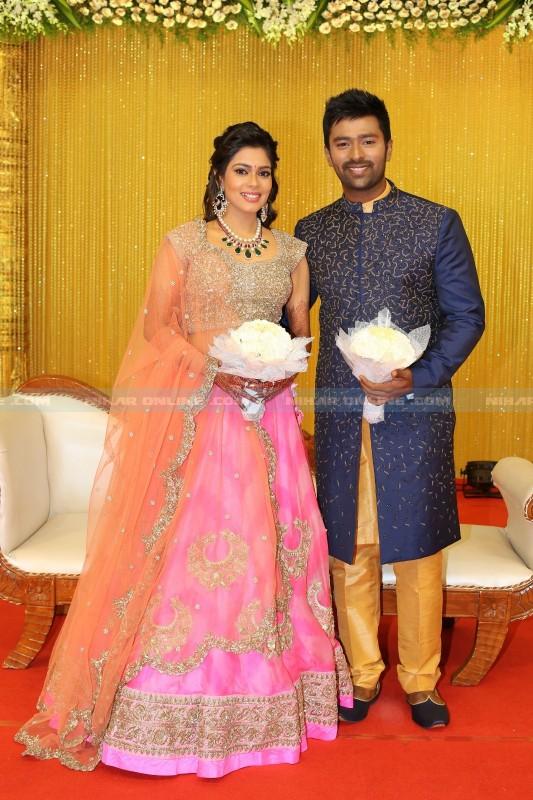 bhagyaraj s son shanthanu wedding reception photos